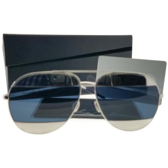 74e3674061e5 DIORSPLIT-1010-KU-59 Womens Silver Frame. NWT. Christian Dior